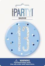 Blue & Silver Glitz Badge, Age 13