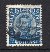 Iceland 40 Aur c1920-22 Stamp Used (3381)