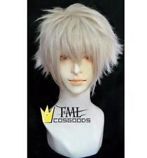 APH Prussia Gilbert EVA Nagisa Kaworu Cosplay Short Silver White Party Wig