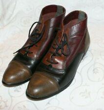 Vintage Baccante boots Bootie Multi Color Leather 6.5 B