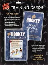HOCKEY training cards deck practice coach illustrated teach skills lessons aid