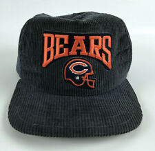Chicago Bears New Era Pro Design Baseball Snapback Hat Blue Orange Corduroy VTG