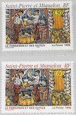 ST. PIERRE MIQUELON SPM 1996 706-07 626-27 Blacksmith & Tools Schmied Werkzeuge
