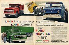 1957 Ford Trucks T-800 Dump Truck-Tilt Cab-F900 Print Ad