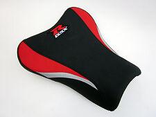 S12 Suzuki GSXR 1000 K5, K6 seat cover upgrade Red, Black and Silver-FRONT