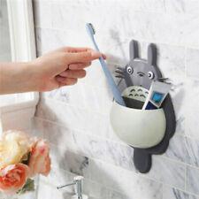 1Pcs Toothbrush Wall Mount Holder Cute Totoro Sucker Suction Bathroom Organizer