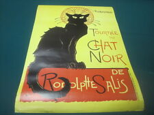 Tournee du Chat Noir de Rodolphe Salis 1896 Black Cat Advertising Poster 24x36