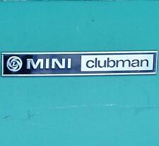 "MINI ""MINI CLUBMAN"" (Leyland) avvio Badge, NUOVO! GRATIS UK!"
