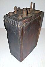 Antique Original Model-T / Model-A Ignition Coil, Wooden Dovetail Box