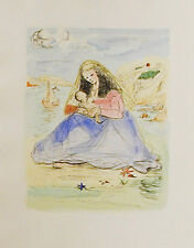 SALVADOR DALI (after) MADONNA AND CHILD- UNSIGNED ETCHING IN COLOR -1980's -WOVE