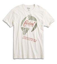 Lucky Brand - NWT - Mens M - White Castrol Oil Grand Prix 100% Cotton T-Shirt