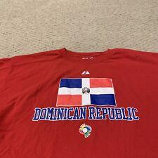 Dominican Republic World Baseball Classic 2006 Team T Shirt Majestic Men's 2XL