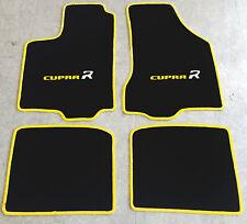 Autoteppiche Fußmatten für Seat Ibiza Cupra R Typ 6K  1993-02  2farbig gelb Neu
