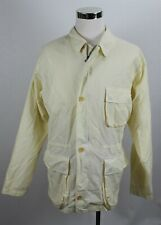 Polo Ralph Lauren Men's Jacket L Light Yellow / Ivory White Cotton Safari City