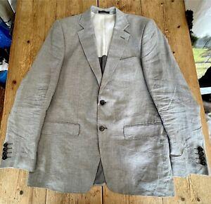 Smart ZARA MAN Pure Linen Light Grey SPORTS JACKET Blazer, 44 Reg