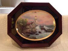 "Thomas Kinkade ""Hope's Cottage"" Limited Numbered Edition Wood Framed Plate 1995"