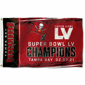 Tampa Bay Buccaneers Super Bowl LV 55 2021 Champions 3x5 Feet Banner 3 x 5 Flag