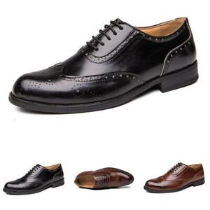 Brogue Mens Dress Formal Business Leisure Shoes Pointy Toe Work Office Oxfords L