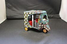 Handmade Decorative Mirror Work Rickshaw Ornament Home Decor Ethnic Traditional
