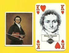 Niccolo Paganini Fab Card Collection Italian violinist violist Composer
