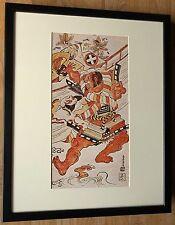 Asahina y Soga no Goro por Kiyomasu I, 20''x16'' Marco, Japonés Pared Arte