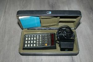 Vintage HP Hewlett Packard HP-45 Red LED Scientific Calculator Case Power Supply