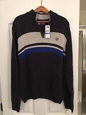 Chaps Sweater XLarge Mens 1/4 Zip Blue