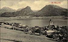 St. Wolfgang Oberösterreich 1909 Dorfpartie mit Kirche Verlag Stengel gelaufen