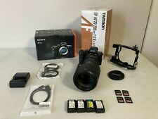 Sony Alpha A7sII Camera w/Telephoto 2.8 70-200mm Lens, Batteries, Cards, Cage