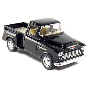 Kinsmart 1955 Chevy Stepside 3100 Pick up truck 1:32 Diecast Model Car Black