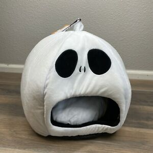 Wags and Whiskers Halloween Ghost Skeleton Boo Pet Bed