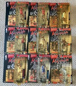 Michael Jordan Lot of Ten (10) 1999 Mattel Maximum Air Figures in the Package