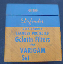 10 Defender Gelatin Filters W/ Box For Varigam Set 5-B 5B