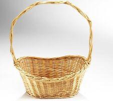 Geschenkkorb oval 45x29x21 braun  Weide