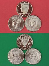 1992 P D S Kennedy Proof & BU Half Dollars From Mint Sets Flat Rate Shipping