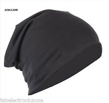 Black Unisex Woolen Skull Cap Slouchy Beanie for Men & Women