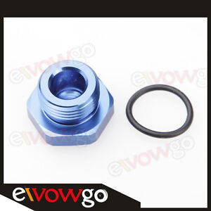 4AN AN4 AN-4 Flare Plug Fitting Adapter with O RING seal AN Plug Blue