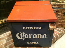 Rare - Cervesa Corona Extra Beer Metal Ice Chest Cooler w/Opener             s1&