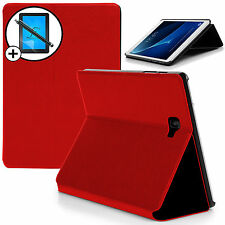 Red Cover Smart Case Samsung Galaxy Tab A 10.1 SM-P580 S Pen Scrn Prot Stylus