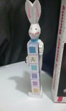 Wooden Easter Bunny Figurine Spells Out Easter, Mid Western Home Products, Inc.