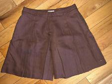 Designer Chloe Girls Chocolate Brown Pleated Skirt Skort Age 14 Years