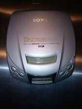 Sony Discman Cd Player Esp2 Digital Mega Bass D-E200 Portable Silver Tested