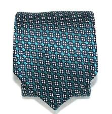 $260 NWT Tom Ford Turquoise Black Silver Medallions 100% Silk Tie Made in Italy