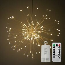 RGB 120 LED Firework Light Copper Wire Fairy String Lights Christmas Party Decor