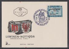 Österreich 1954  FDC Merkurkarte  Mi Nr: 998  Ausgabe Lawinenunglück