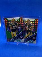 2020 Mosaic Green Will To Win Rodgers And Favre (2) Cars Lot