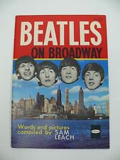 Beatles on Broadway Vintage Magazine by Sam Leach 1964 Whitman