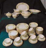 90 pc MEITO VIntage Heirloom Fine China JEWEL Service for 12 Made in Japan MINTY