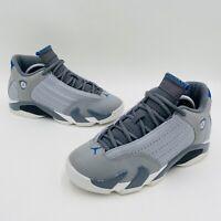 Nike Air Jordan 14 Retro Blue Wolf Gray Sport Shoes 487524-004 Size 5.5Y Youth