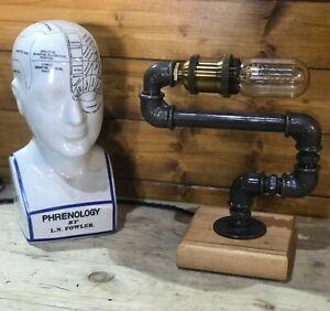 Unique Table Lamp Handmade, Edison Bulb, Bedside Light Industrial Design, Decor